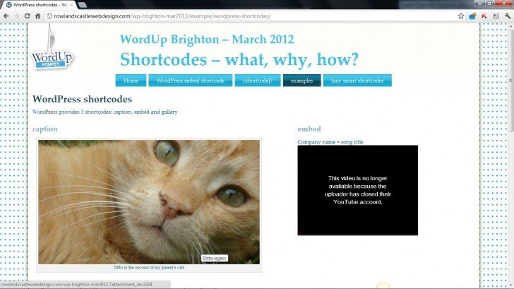 """embed width=""""320″ – worked in March 2012"""