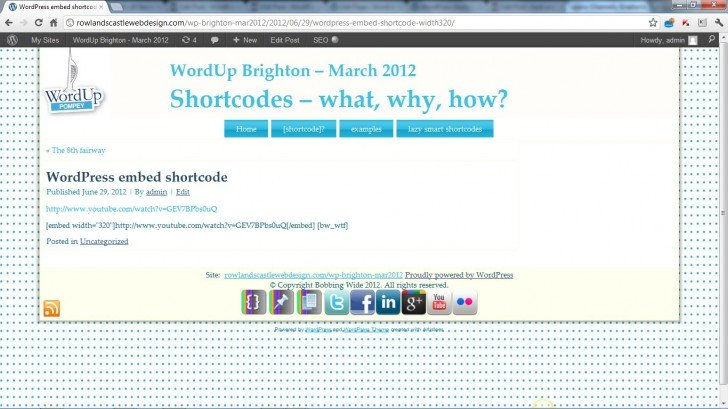 embed in a post not working (June 2012)