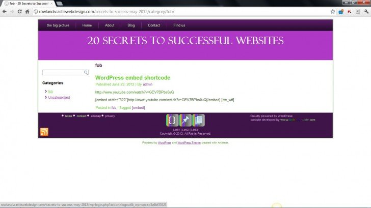 embed not working – different WPMU site (June 2012)