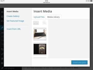 iPad Insert Media – close link missing